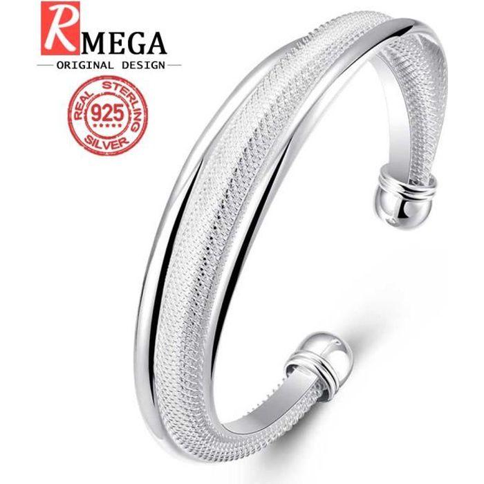 bracelet femme argent rond