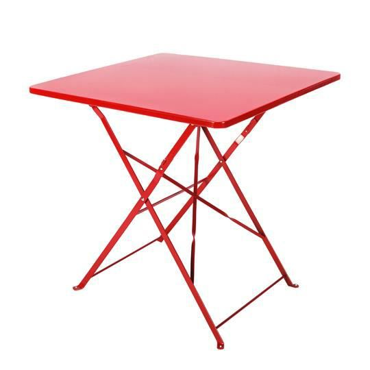 Table de jardin pliante carr e 70 x 70 cm rouge achat for Table de bistrot pliante