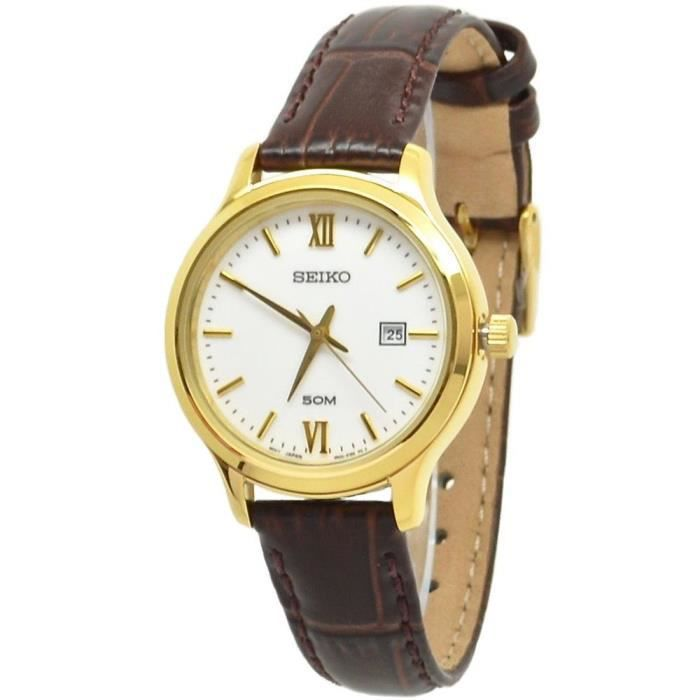 montres seiko femmes bracelet cuir
