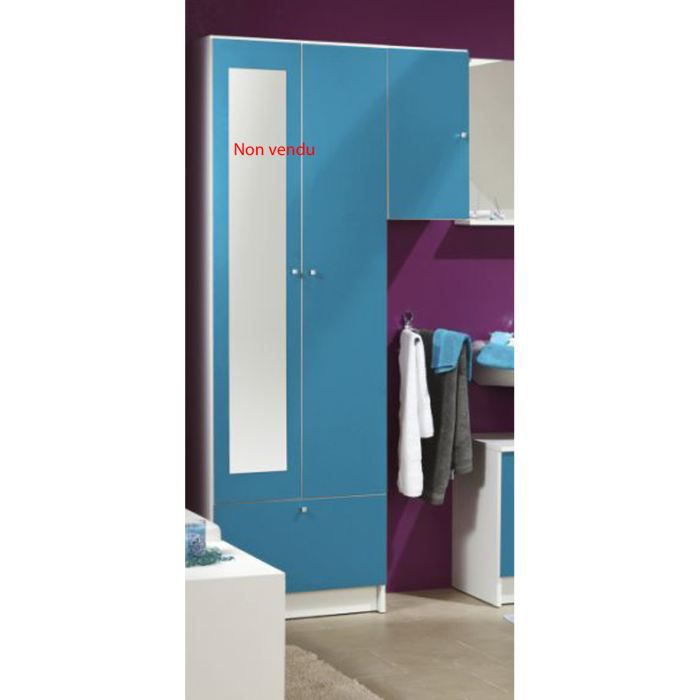 meuble mural de salle de bain 1 porte bleuet 7 achat. Black Bedroom Furniture Sets. Home Design Ideas