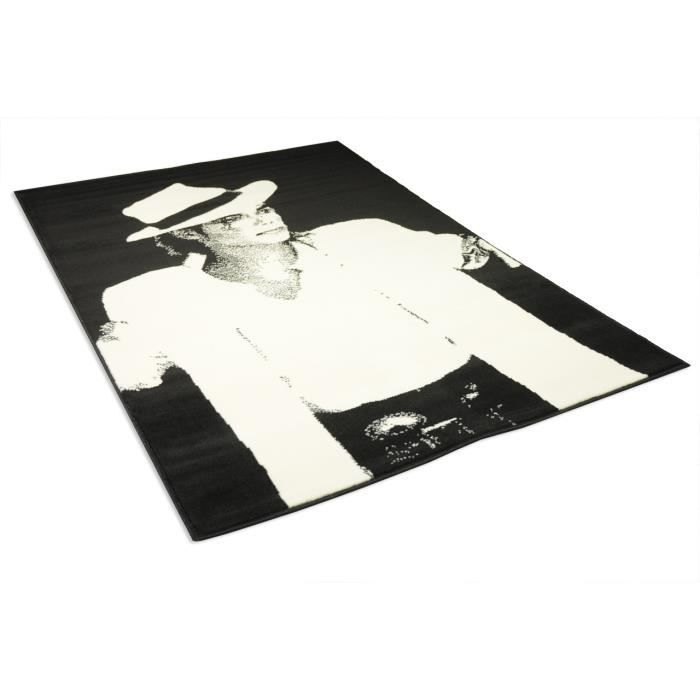 tapis salon michael jackson noir et blanc unive achat. Black Bedroom Furniture Sets. Home Design Ideas