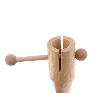 QUATRO percussion Castagnettes manche en bois clackers pour enfants instrument de musique