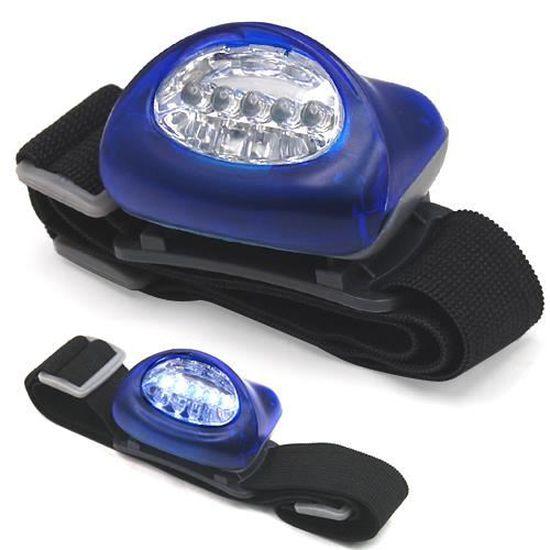 TRIXES Lampe frontale Camping Randonn/ée Torche magn/étique 5 LED Lampe frontale