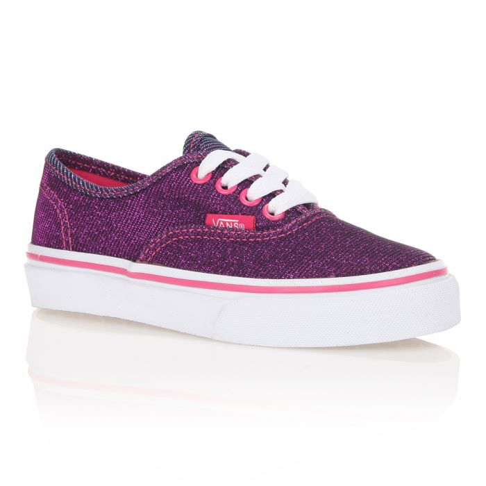 vans baskets authentic enfant rose paillettes achat vente basket cdiscount. Black Bedroom Furniture Sets. Home Design Ideas