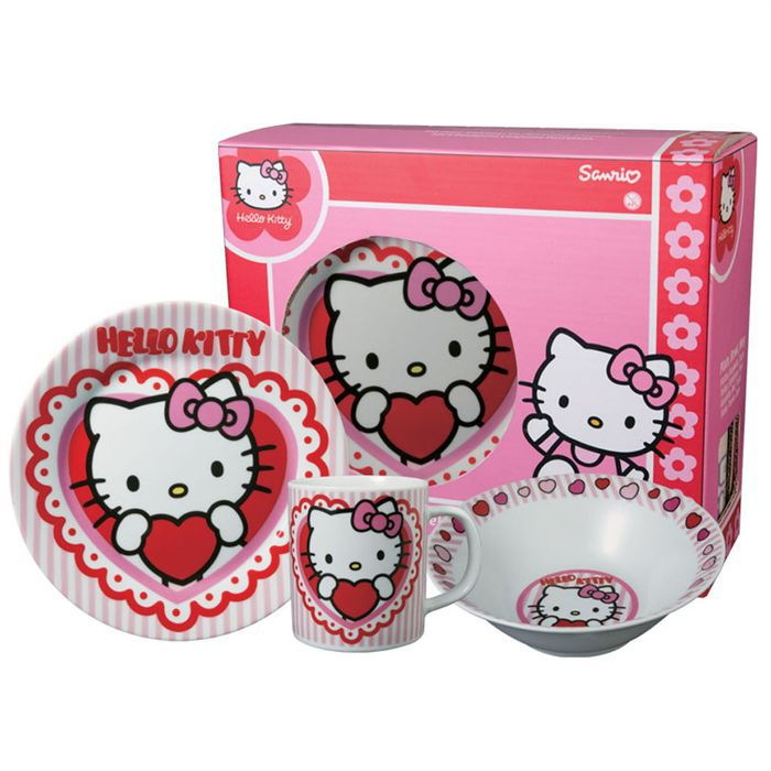 set petit d jeuner hello kitty valentine achat vente service th caf cdiscount. Black Bedroom Furniture Sets. Home Design Ideas