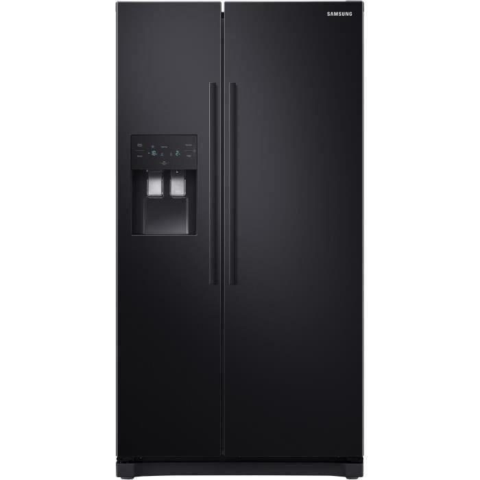 SAMSUNG RS50N3503BC-Réfrigérateur américain-501 L (357 + 144 L)-Froid ventilé-A+-L 91,2 x H 178,9 cm-Noir