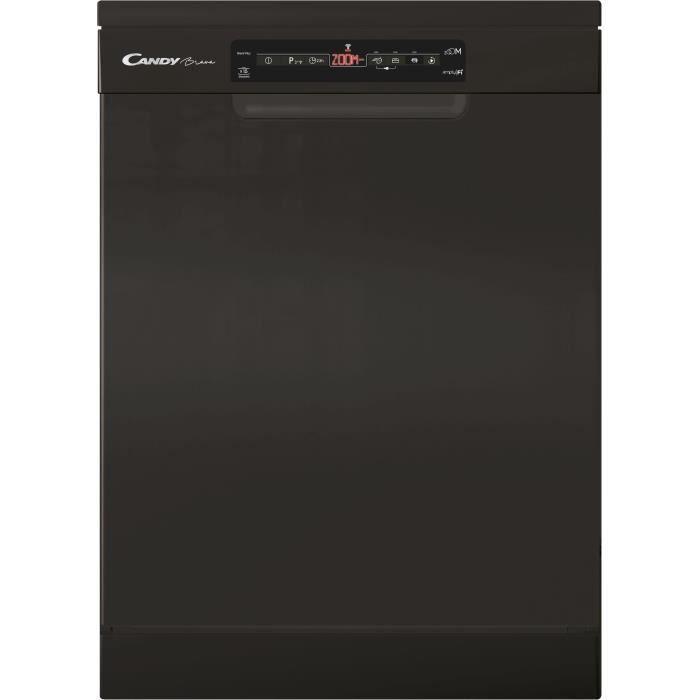 Lave-vaisselle pose libre connecté CANDY CF5E3D3FB - 15 couverts - Largeur 60 cm - 45 dB - Noir