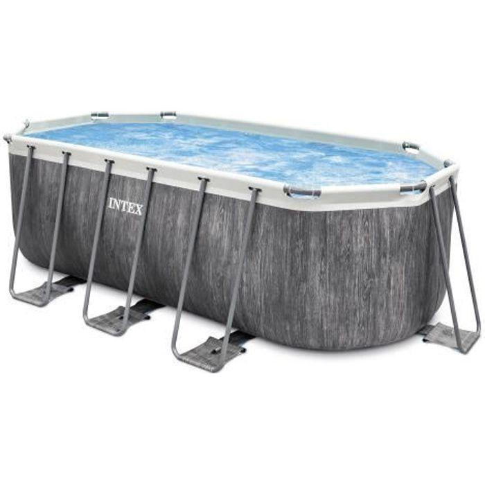 Intex kit piscine tubulaire baltik ovale (l)4,00 x (l)2,00 x (h)1,22m