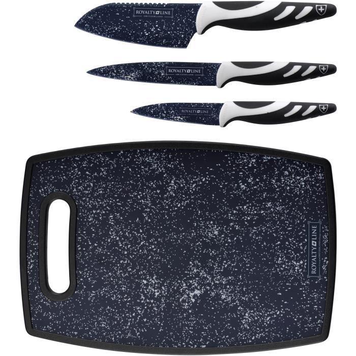 Set de couteaux avec planche à découper (3 pièces)