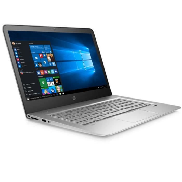 Hp pc portable envy ultraportable 13 d003nf argent 13.3 8go windows 10 intel® core™ i7 6500u disque dur ssd m.2 256 go
