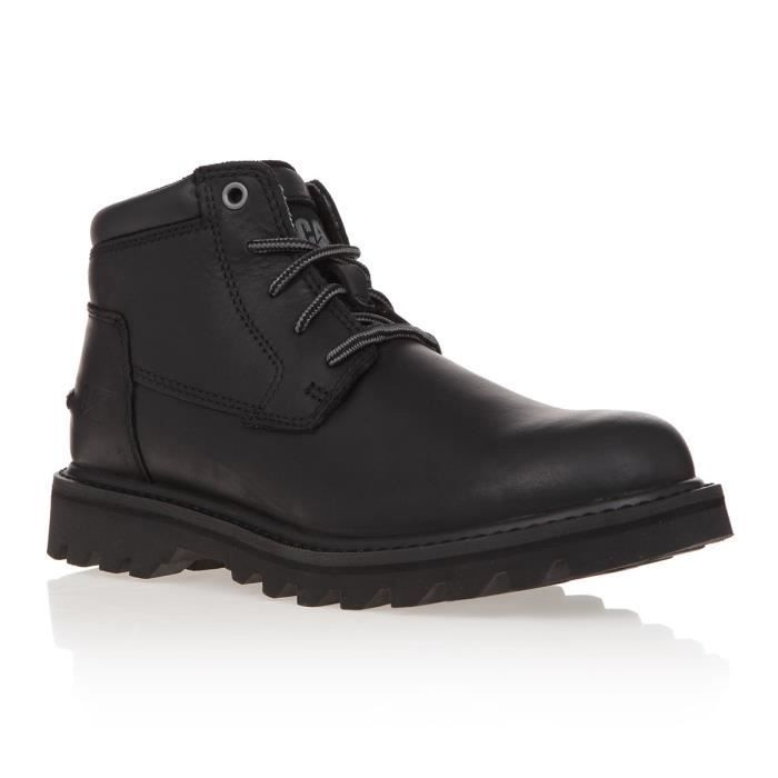 CATERPILLAR Bottines en cuir Doubleday - Homme - Noir