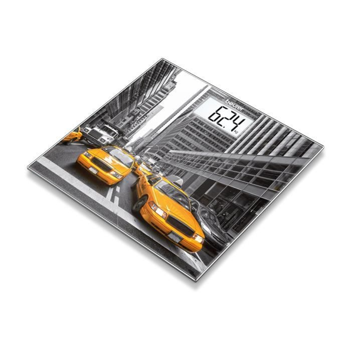 BEURER GS 203 Pèse-personne en verre - motif New York - 150 kg - Garantie 5 ans