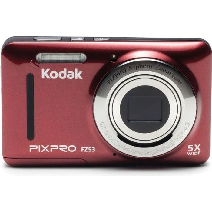 KODAK - FZ53-RD - Appareil photo compact - Rouge