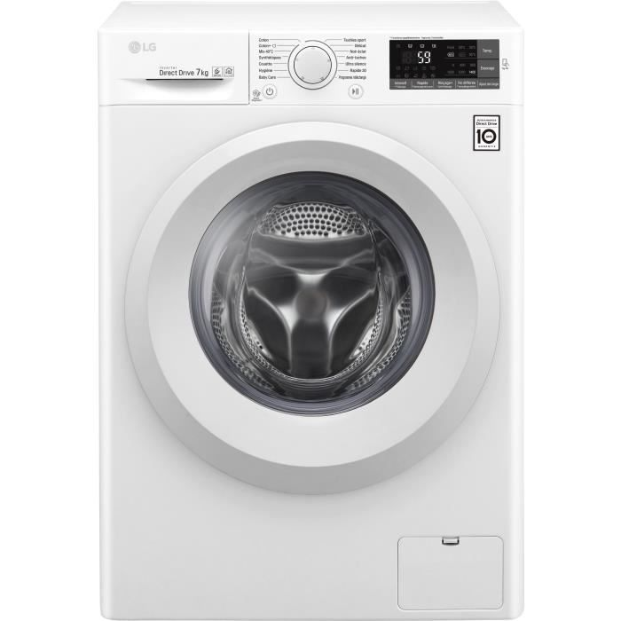 LG F74J53WH - Lave linge frontal - 7kg - 1400 tours / min max - A+++ - Moteur induction Direct Drive