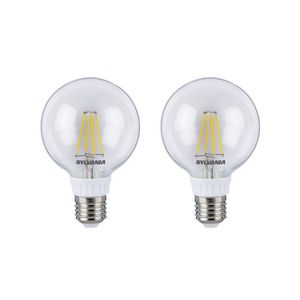 SYLVANIA Lot de 2 ampoules LED RETRO Filament Globe G80 E27 50W