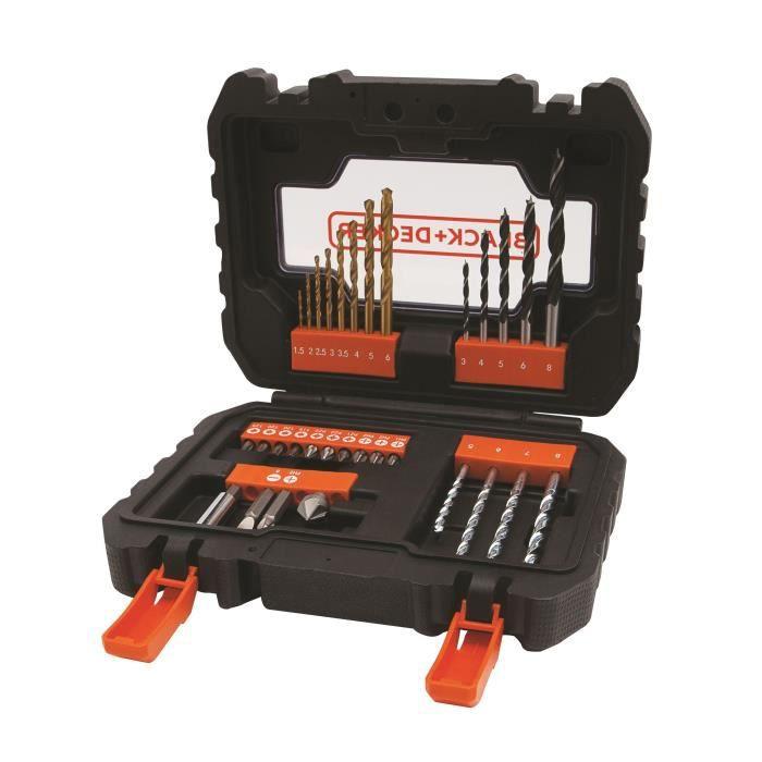 BLACK&DECKER Coffret 31 accessoires perçage vissage A7233