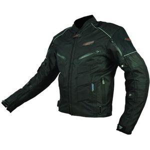 BLOUSON - VESTE RIDER TEC Blouson Moto Textile Noir - Protections