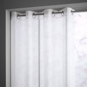 VOILAGE TODAY Voilage BIZANCE 135x240cm blanc