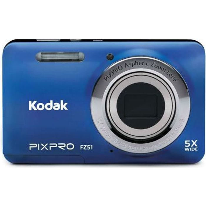 APPAREIL PHOTO COMPACT KODAK - FZ53-BL - Appareil photo compact - Bleu