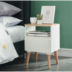 chevet scandinave blanc achat vente chevet scandinave blanc pas cher soldes d s le 10. Black Bedroom Furniture Sets. Home Design Ideas