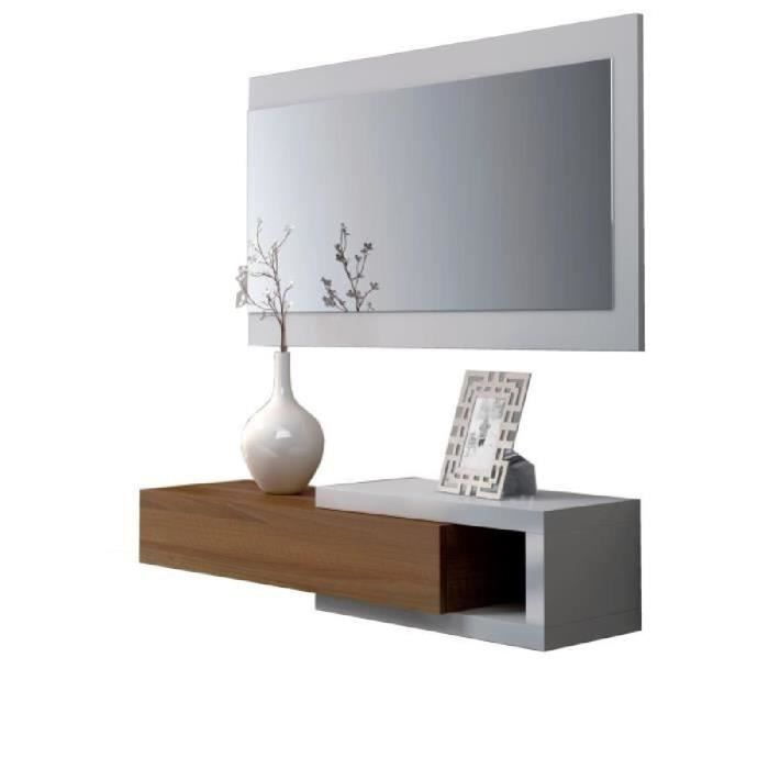 noon console d 39 entr e style contemporain blanc l 95 cm achat vente meuble d 39 entr e noon. Black Bedroom Furniture Sets. Home Design Ideas