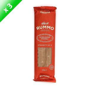 PÂTES ALIMENTAIRES RUMMO Lot de 3 Spaghetti N°3 Bio Integral - 500 g