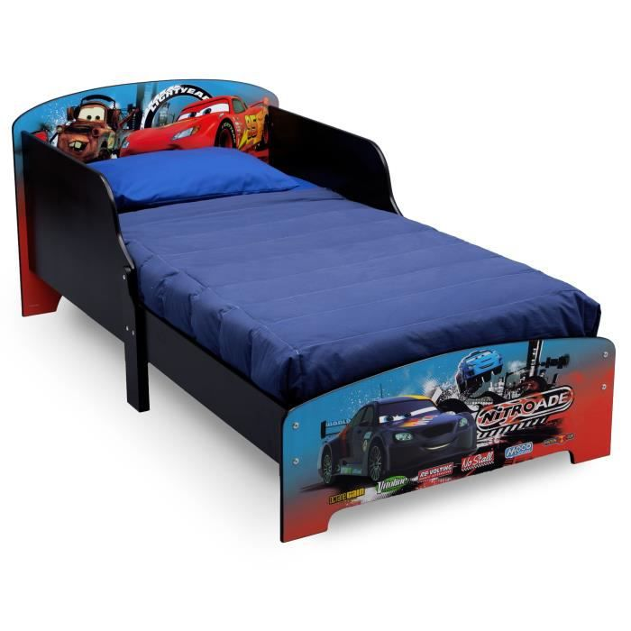 cars lit enfant en bois 70 x 140cm achat vente structure de lit cdiscount. Black Bedroom Furniture Sets. Home Design Ideas