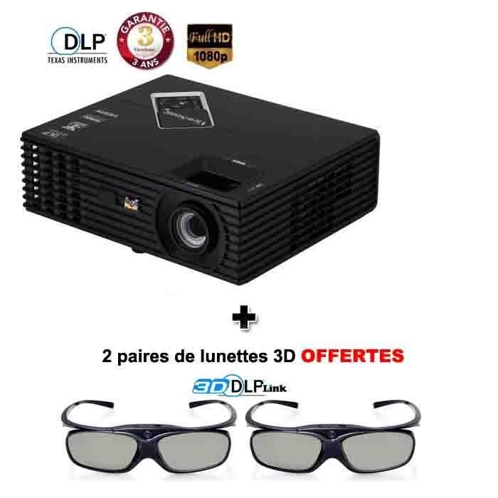 viewsonic pjd7820hd vid oprojecteur full hd 3d vid oprojecteur avis et prix pas cher cdiscount. Black Bedroom Furniture Sets. Home Design Ideas