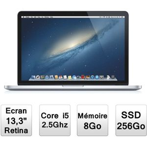 """PC Portable Apple MacBook Pro 13"""" avec écran Retina (MD213F/A) pas cher"""