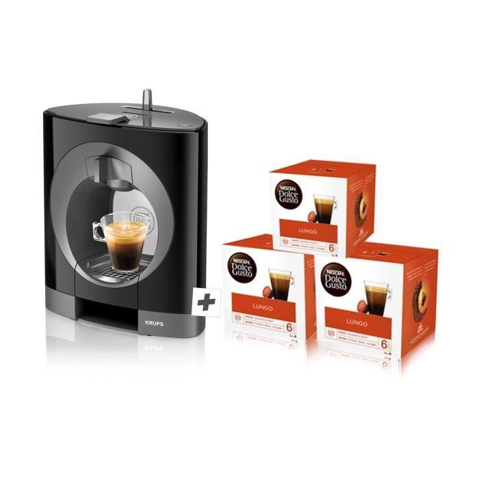 Nescafe Dolce Gusto Oblo Machine à café par Krups-Noir