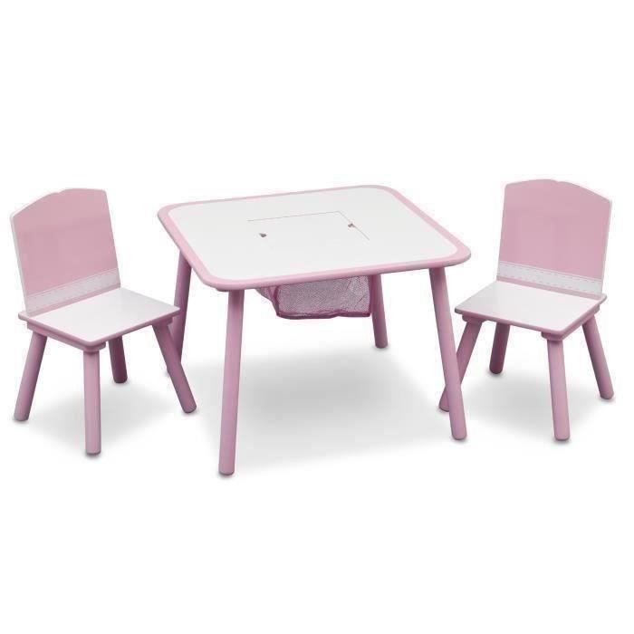 table enfant et 2 chaises rose achat vente table jouet. Black Bedroom Furniture Sets. Home Design Ideas
