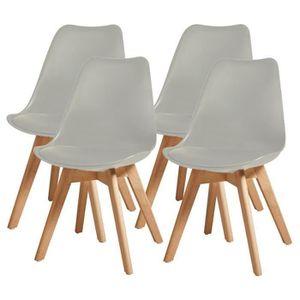 CHAISE BJORN Lot de 4 chaises de salle à manger - Simili