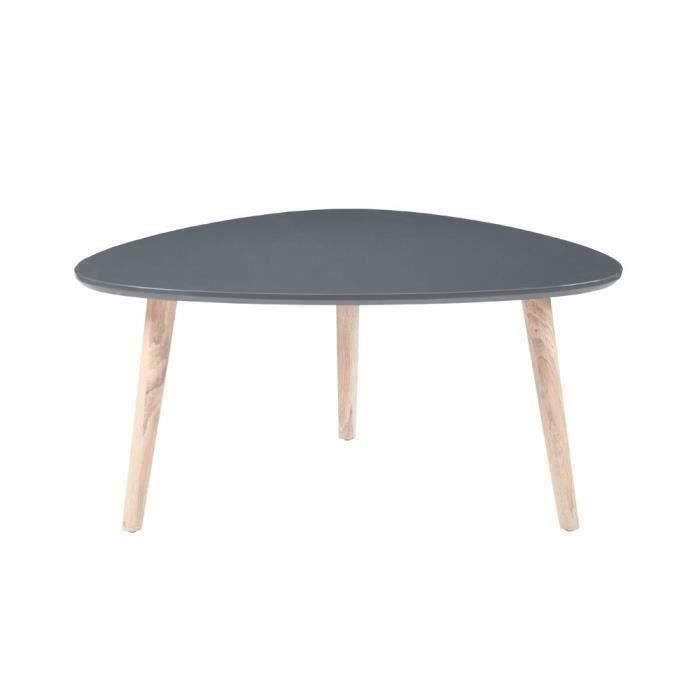 galet table basse 80x80cm laqu e gris brillant achat vente table basse galet table basse. Black Bedroom Furniture Sets. Home Design Ideas