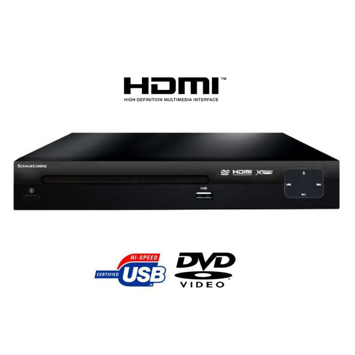 schaub lorenz lecteur dvd usb hdmi lecteur hd dvd prix pas cher cdiscount. Black Bedroom Furniture Sets. Home Design Ideas