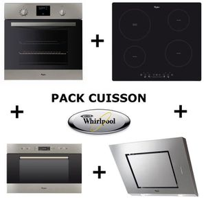 LOT APPAREIL CUISSON WHIRLPOOL Pack cuisson : Four pyrolyse + Table ind