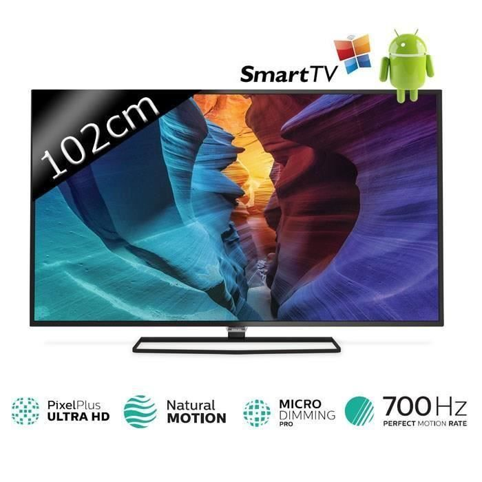 destockage philips 40puh6400 smart tv led uhd 4k 102cm 40 t l viseur led au meilleur prix. Black Bedroom Furniture Sets. Home Design Ideas