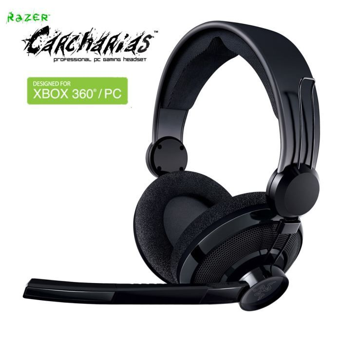 razer casque micro carcharias pour pc xbox360 prix pas. Black Bedroom Furniture Sets. Home Design Ideas