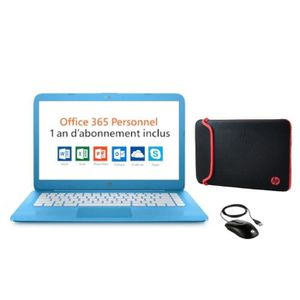 ORDINATEUR PORTABLE Pack HP PC Portable Stream 14-cb033nf - 14