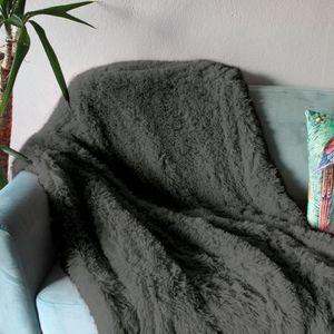COUSSIN Plaid NEO YOGA Gris Foncé 120 x 150 cm