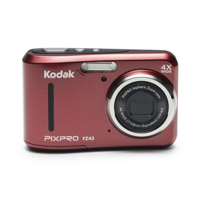 APPAREIL PHOTO COMPACT KODAK - FZ43-RD - Appareil photo compact - Rouge