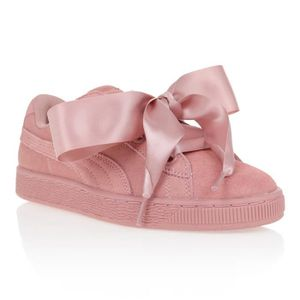 BASKET PUMA Baskets basses Heart Suede - Femme - Rose