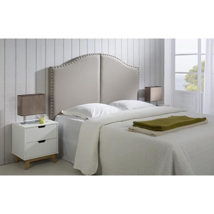 noemie t te de lit 160 cm en simili taupe achat vente t te de lit noemie t te de lit. Black Bedroom Furniture Sets. Home Design Ideas