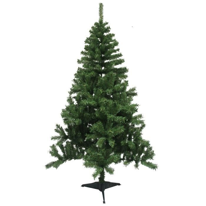 sapin de no l artificiel entr e de gamme 580 branches hauteur 180 cm vert achat vente pied. Black Bedroom Furniture Sets. Home Design Ideas