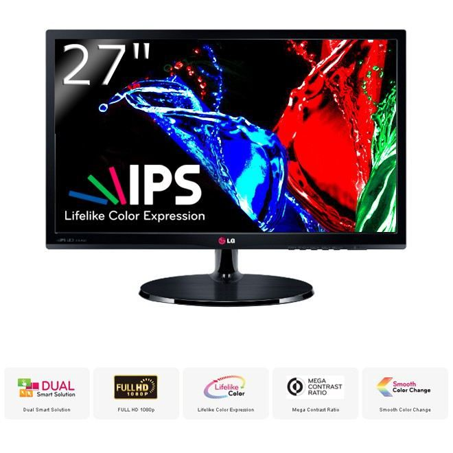 Lg moniteur led ips 27 39 39 27ea53vq achat vente ecran for Dalle ips 27 pouces