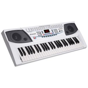 CLAVIER MUSICAL DELSON Clavier 54 touches JK-2083 blanc