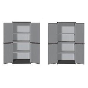 ETABLI - MEUBLE ATELIER TOOD Lot de 2 armoires hautes de rangement 3 table