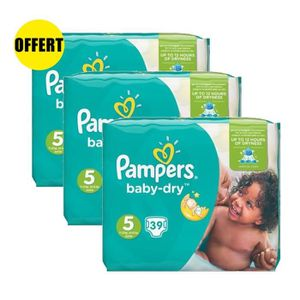 COUCHE Pampers Baby Dry Taille 5 Lot de 3 Géants 117 couc