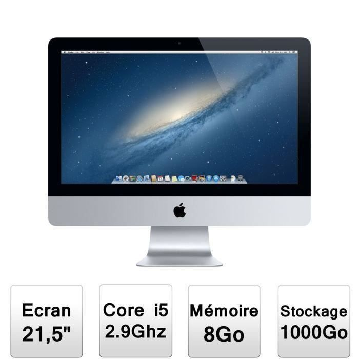 destockage apple imac 21 5 me087f a ordinateur tout en un au meilleur prix cdiscount. Black Bedroom Furniture Sets. Home Design Ideas