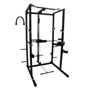 BANC DE MUSCULATION CARE Cage de musculation Power Rack - Mixte - Noir