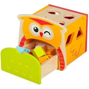 HOCHET Le hibou intelligent, Jouet de Premier Age - Cube